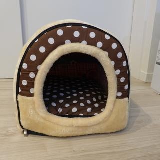 ペットハウス ペットベッド ドーム型 犬 猫 マット取り外し可能