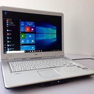 美品✨NECホワイト白♦️最大メモリ4GB最新Windows10ノ...