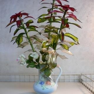アメリカンフラワーの造花 お洒落なベース付き