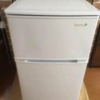 2ドア 冷蔵庫  90L