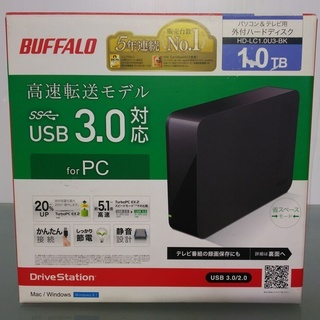BUFFALO パソコン&テレビ用 外付ハードディスク 1.0TB