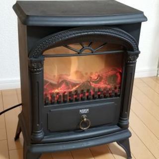 オシャレ♪ 暖炉型温風ファンヒーター 間接照明にも