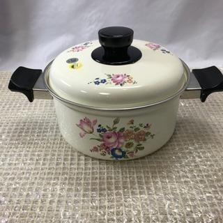 ホーロー 鍋 未使用 20cm