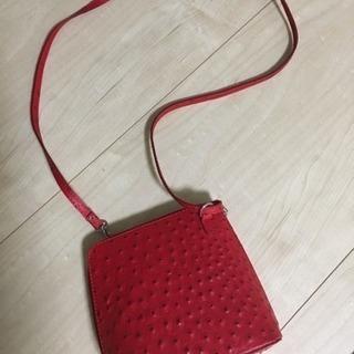 【未使用美品】フィレンツェで買った赤のショルダーバッグ