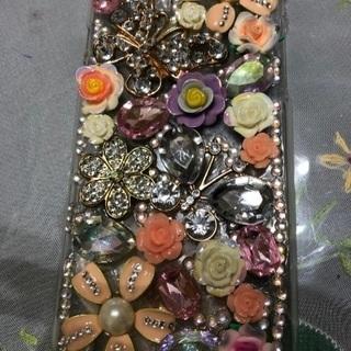 iPhone 6用ゴージャス花柄キラキラケース