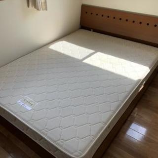 【購入者決定】京都西川 マットレス ダブルサイズ ベッドフレームセット