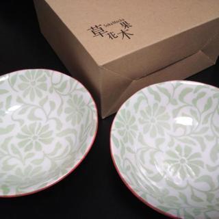 草花木果/オリジナル小皿2枚セット_グリーン