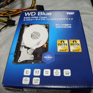 内蔵ハードディスク 2017年製 WD 2TB 使用時間約1322時間