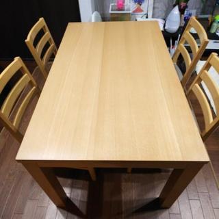 【値下げ 15000円】美品 ダイニングテーブルセット  (ヒー...