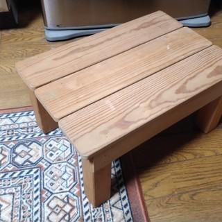 アンティーク 木 椅子 踏み台