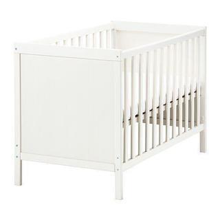 【取引中】IKEA ベビーベッド 白 60×120