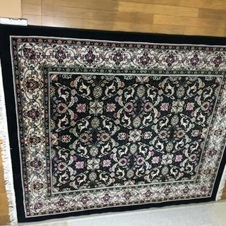 ペルシャ絨毯柄ラグとホットカーペット 3畳用セット美品