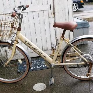 【週末値下げ中!】★自転車 22インチ アイボリー★ 春休みまで!