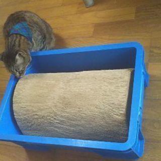 古い猫用爪研ぎ、