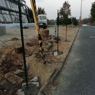 フェンスの撤去工事