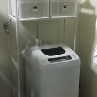 洗濯機HITACHI ランドリーラック・収納ケース付き