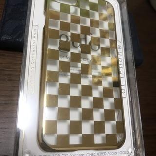 未使用未開封 iPhone7 対応 ケース gufo チェッカー...
