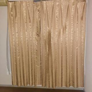 豪華な模様入りカーテン