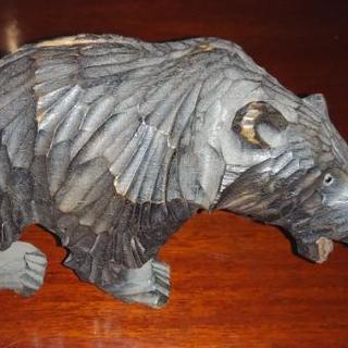 🐻子熊の置物(木製)🐻