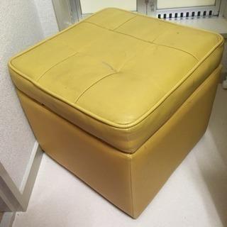 【受付中】オレンジ色がカワイイ オットマン 椅子 ソファ 収納可...