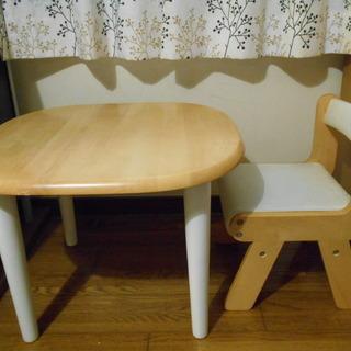 子供用 テーブルと椅子のセット