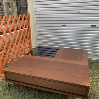 正方形ローテーブル ブラック✖︎ブラウン