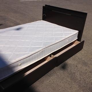 ■フランスベッド シングル マットレス付き 引き出し 収納