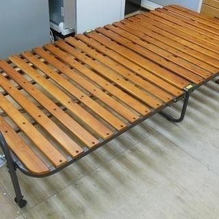 折り畳み すのこベッド シングルサイズ 中古品