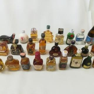 ミニチュアボトル ウイスキー、ブランデー等 25本