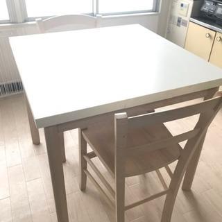 Francfranc フランフラン ダイニングテーブルと椅子二脚