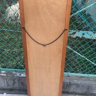 壁掛け 姿見 鏡 寸法(約)幅39×奥行2×高さ131cm