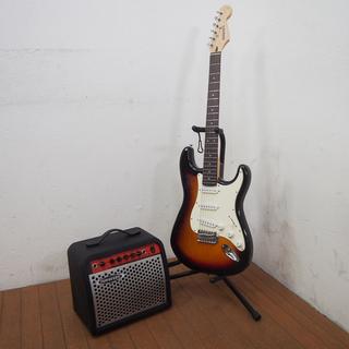 【良品】ギター+アンプ+ソフトケース+スタンド セット エレキギ...