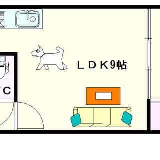 【エクレール夕陽ヶ丘】20号タイプ!1LDKタイプ!小型犬が飼育...