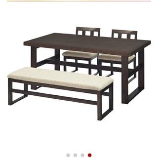 ダイニングテーブル ニトリ ブラウン