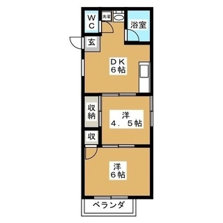 駅近2DK‼︎ブルーライン蒔田駅徒歩3分 明るくきれいな2階角部屋...