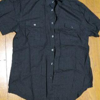 黒シャツ 半袖 L