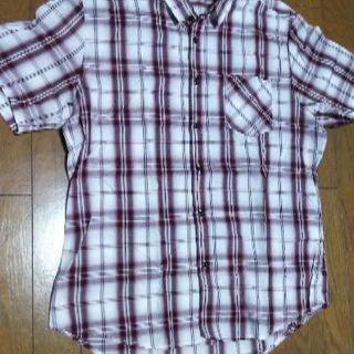チェックシャツ 半袖 LL