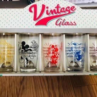 未使用 ディズニーガラスコップ5個セット