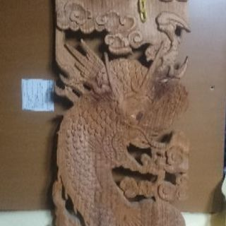 木彫り 龍の置物※お値下げ無