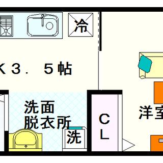 【シェモア桜川】3号タイプ!1Kタイプ!猫も飼育OK★