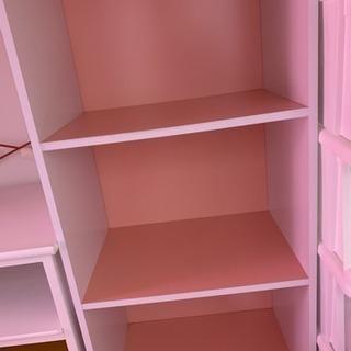成約済み☆3段カラーボックス 2つセット ピンク