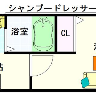 【インペリアル大国Ⅱ】5号タイプ!1Kタイプ!安定した使いやすい間取☆