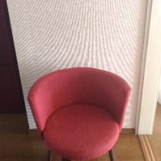 丸椅子 レッド