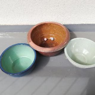 取引中・メダカ鉢・睡蓮鉢3個セット