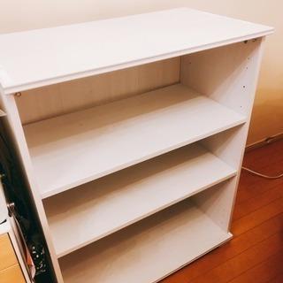 白い本棚! シェルフ、テレビ台に!ホワイトカントリー風