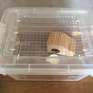手作りハムスター用ケージ 飼育セット
