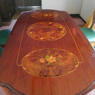 アンティーク風ダイニングテーブル5点セット