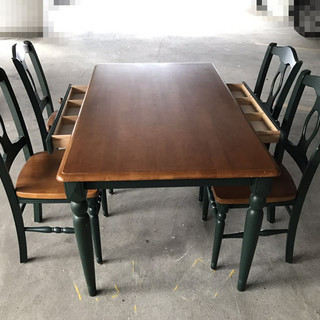 5点セット ダイニングテーブルチェア、アンテイーク木製★80