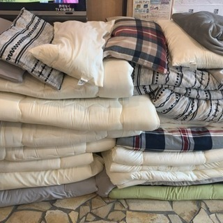 中古無料 掛け布団、敷布団、枕