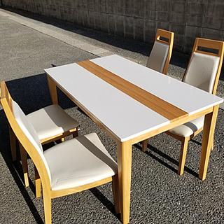 ダイニングテーブルセット ホワイト(引取り限定)